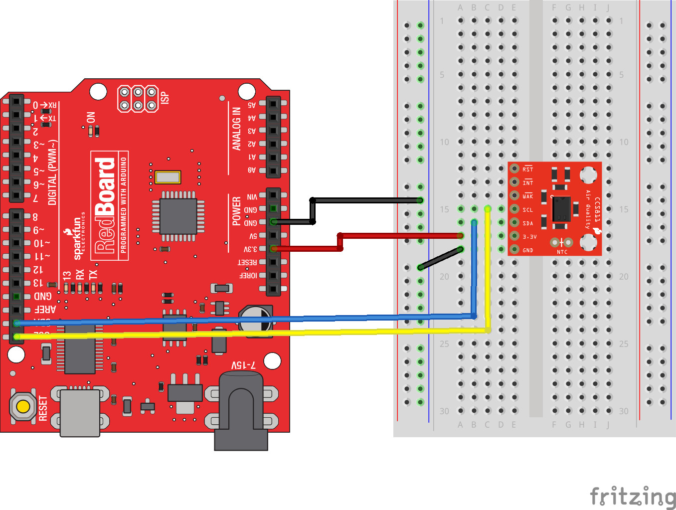 CCS811 Air Quality Breakout Hookup Guide - learn sparkfun com