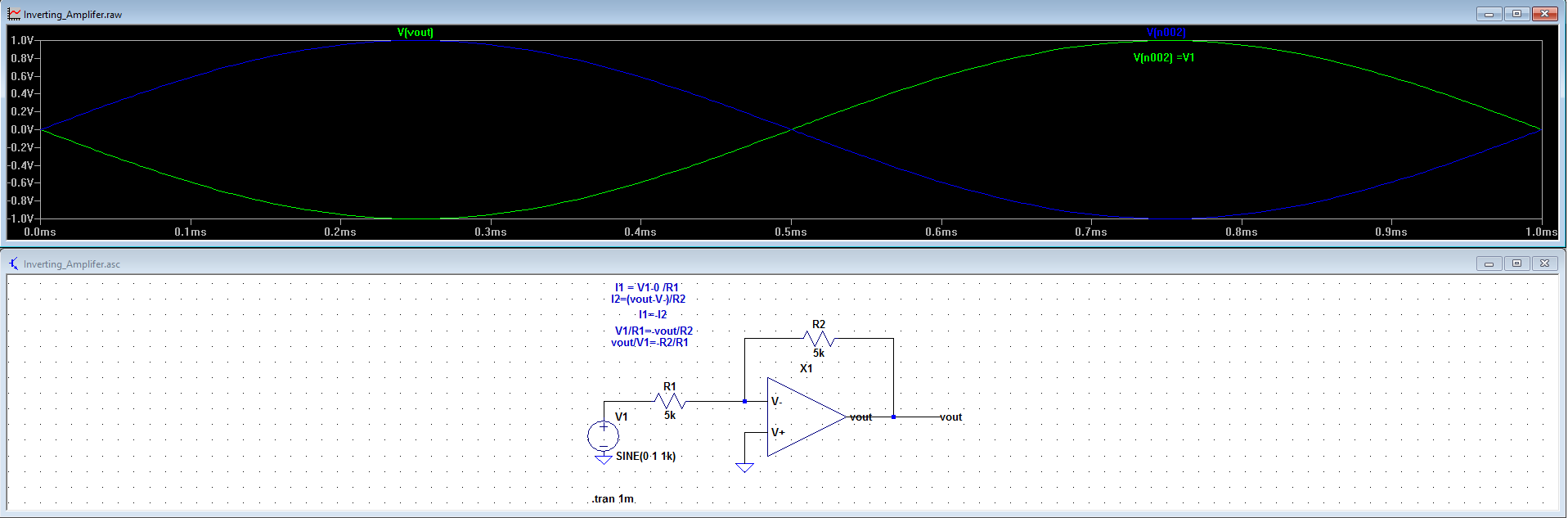 Introduction To Operational Amplifiers With Ltspice Practical Inverting Amplifier Using 741 Project The Summing