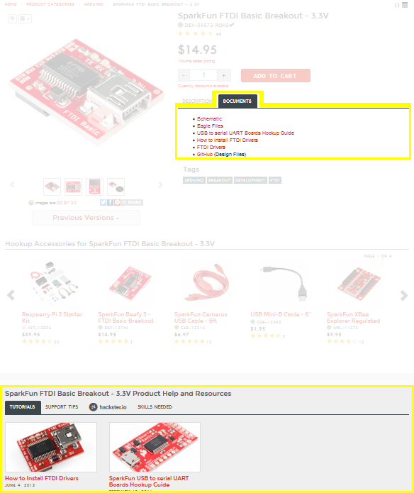SparkFun Product Page