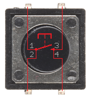 How a push button is configured on the inside