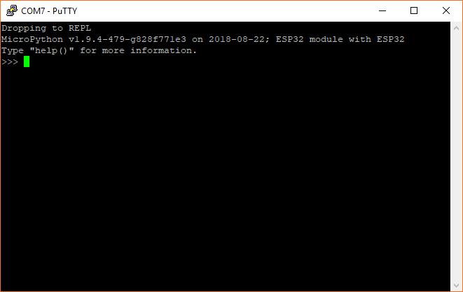 MicroPython REPL prompt