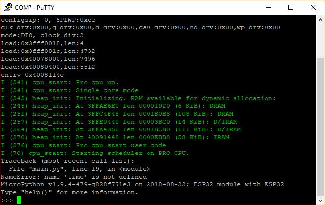 Syntax error in MicroPython code