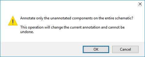 KiCad confirming annotation