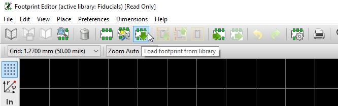 Load Footprint from Library