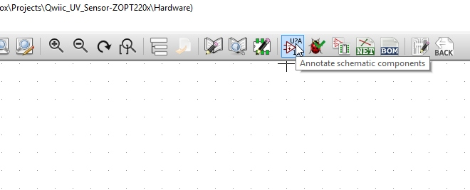 Click on Annotate Schematic Button