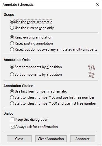 Annotate Schematic Button