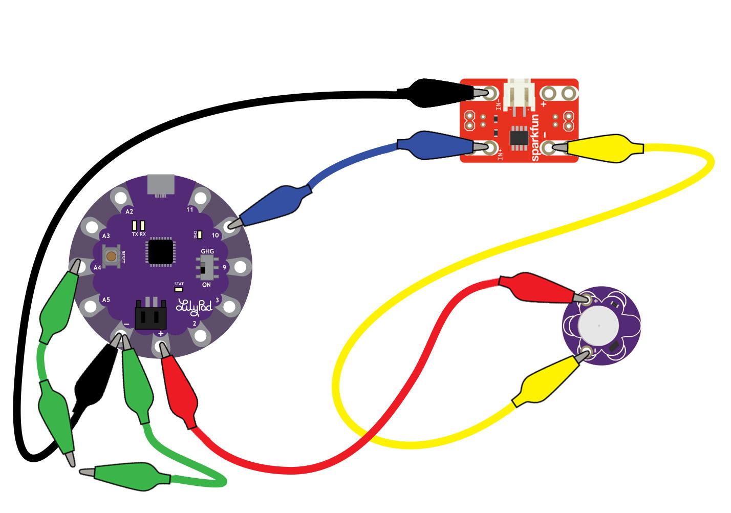LilyPad Vibe Board Hookup Guide - learn sparkfun com