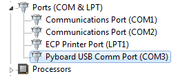 device manager port