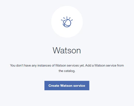 create Watson service