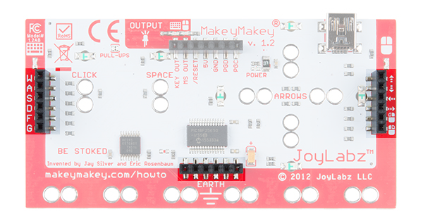 Makey Makey Keyboard, Mouse, and Ground via Female Header