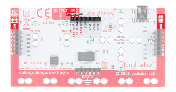 Makey Makey Expansion Header and Status LEDs