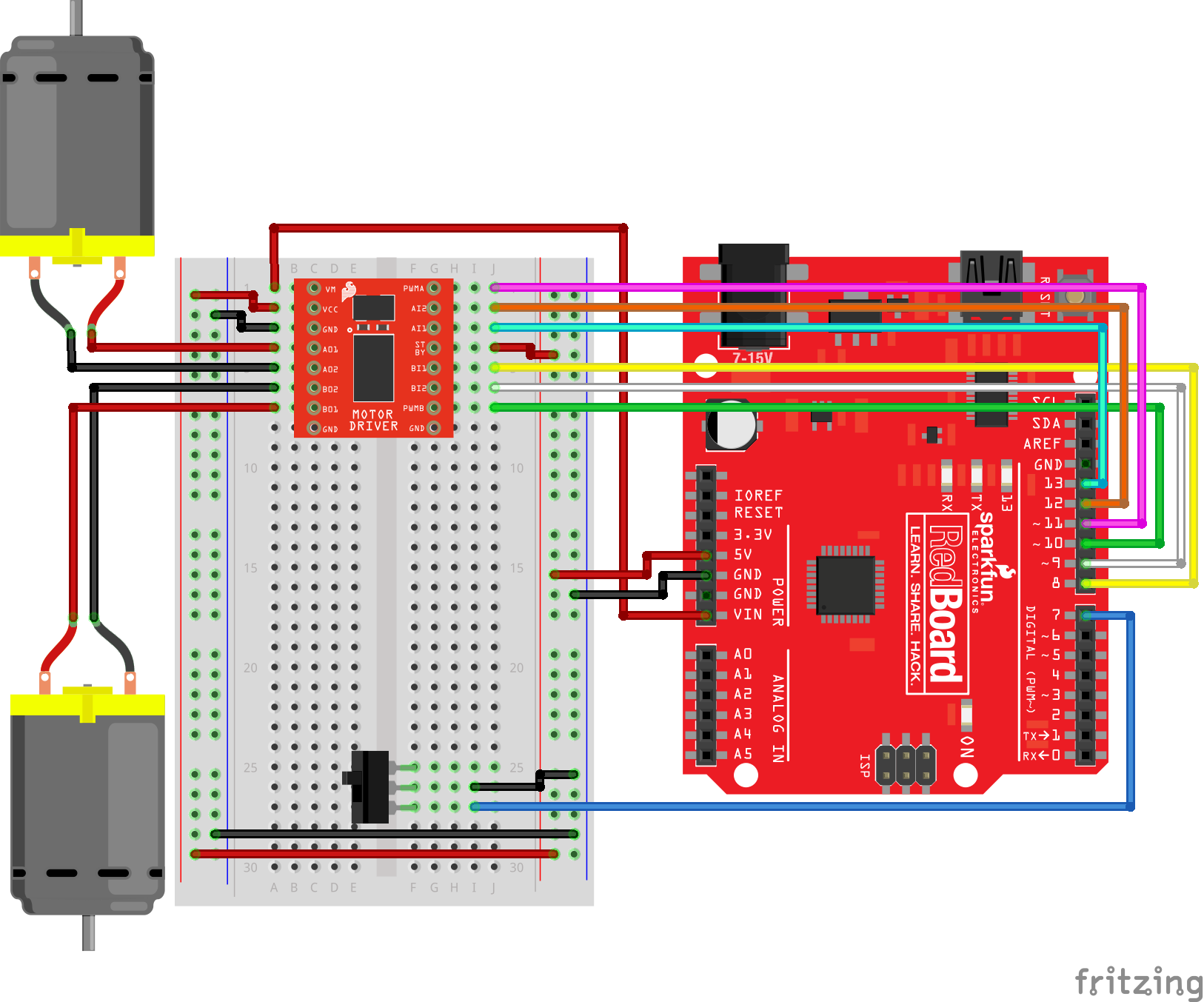 Sparkfun Inventors Kit Experiment Guide V40 The Breadboard Circuit Of Above Is Shown Below Having A Hard Time Seeing Click On Image For Closer Look