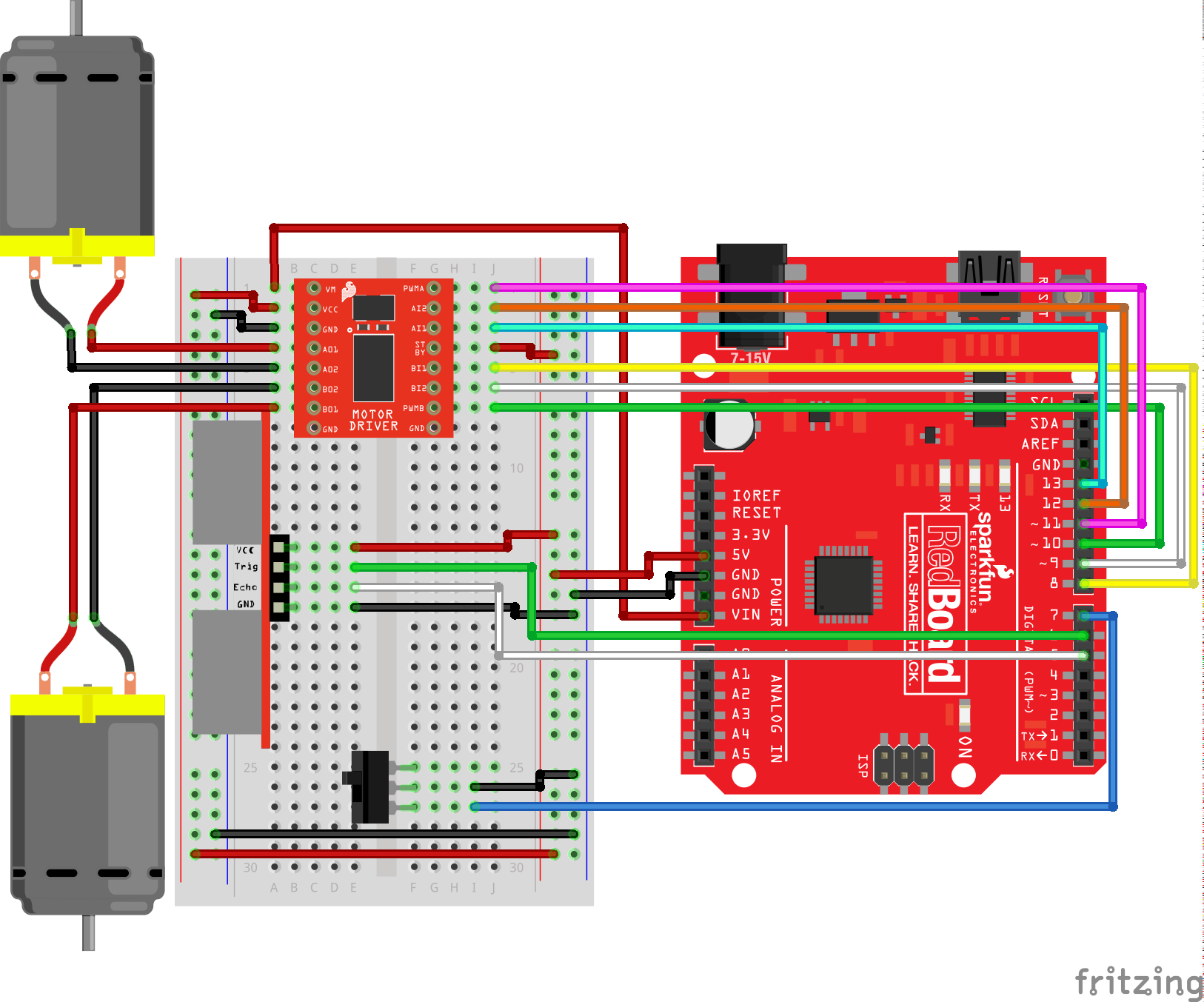 Sparkfun Inventors Kit Experiment Guide V40 Control Circuit For Forward And Reverse Motor Youtube Diagram