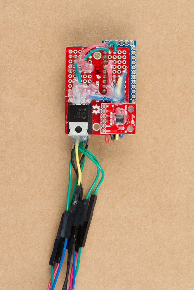 wiring harness glue motion controlled wearable led dance harness learn sparkfun com  motion controlled wearable led dance