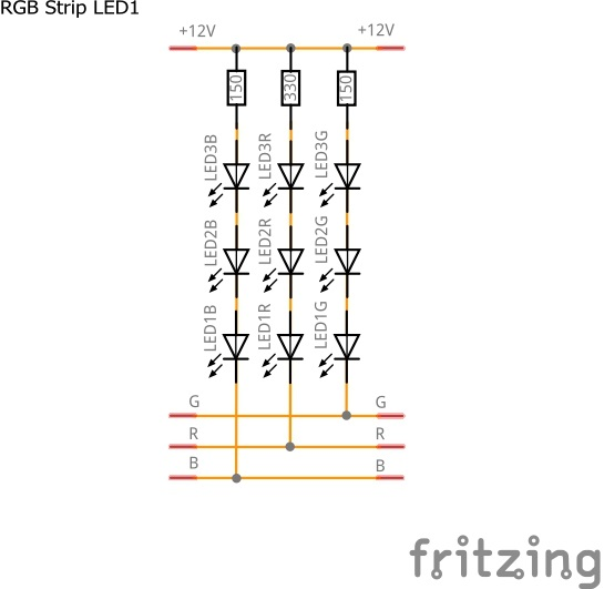 Schematic of Analog RGB LED Strip