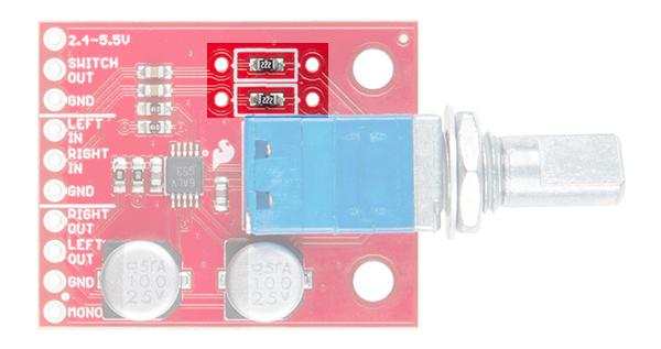 Highlight of Gain Resistors