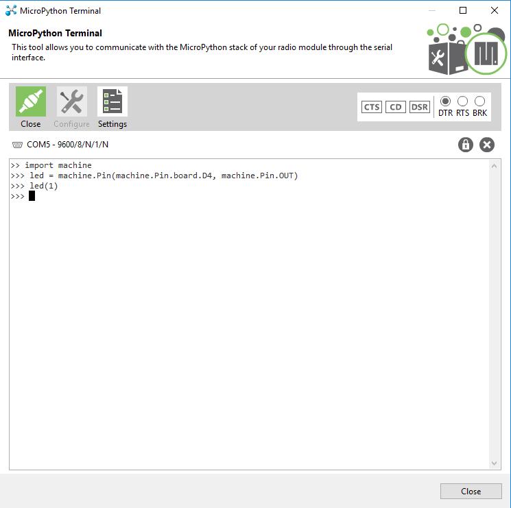 MicroPython Terminal Commands