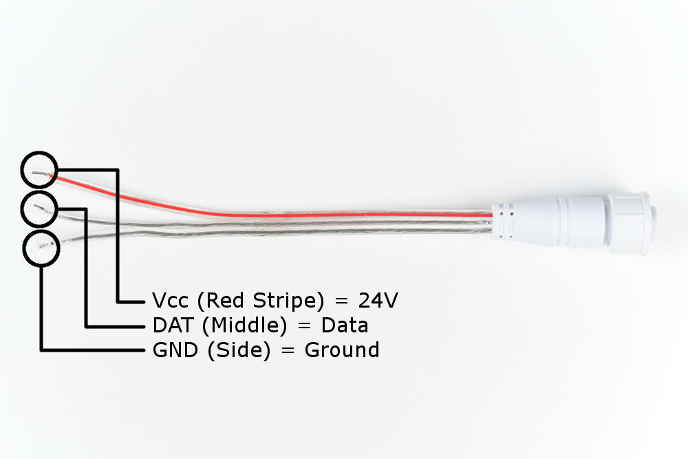 Addressable LED Neon Flex Rope Hookup Guide - learn sparkfun com