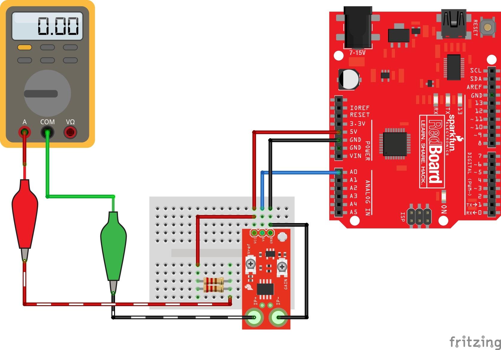 Current Sensor Breakout (ACS723) Hookup Guide - learn