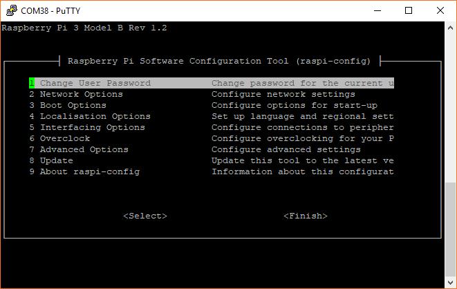 Raspberry Pi raspi-config tool