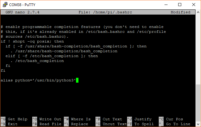 Modifying .bashrc to use Python 3 by default