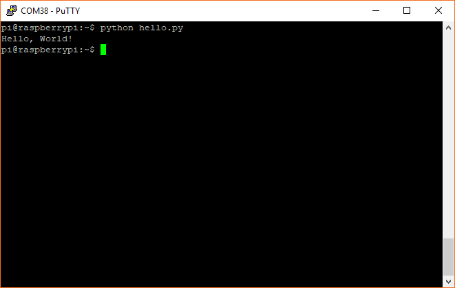 Running a Python program on a Raspberry Pi