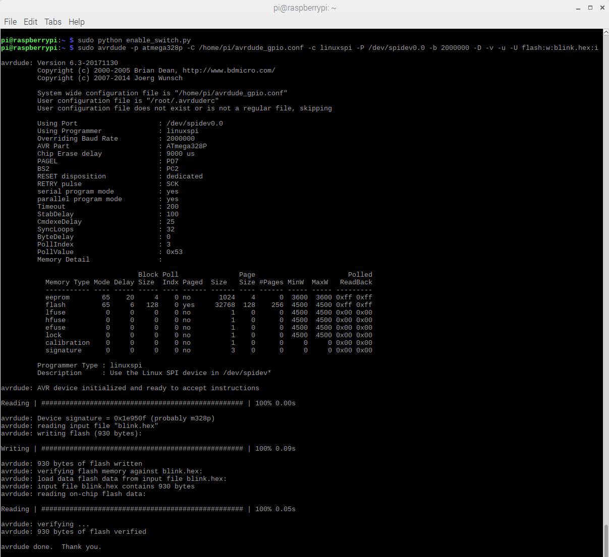 Pi Avr Programmer Hat Hookup Guide Wiringpi Bluetooth Terminal Output After Flashing Arduino Bootloader