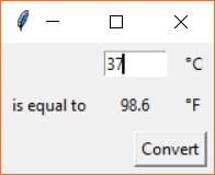 Tkinter temperature converter GUI example