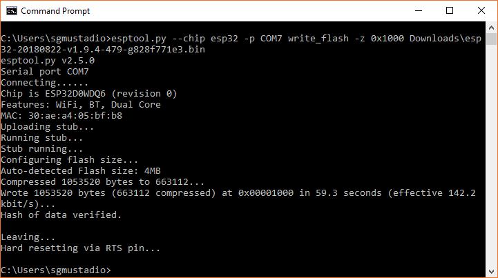 Uploading MicroPython to the ESP32