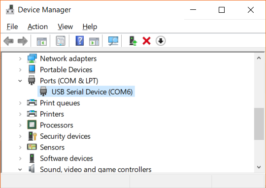 pyboard as a serial device in Windows
