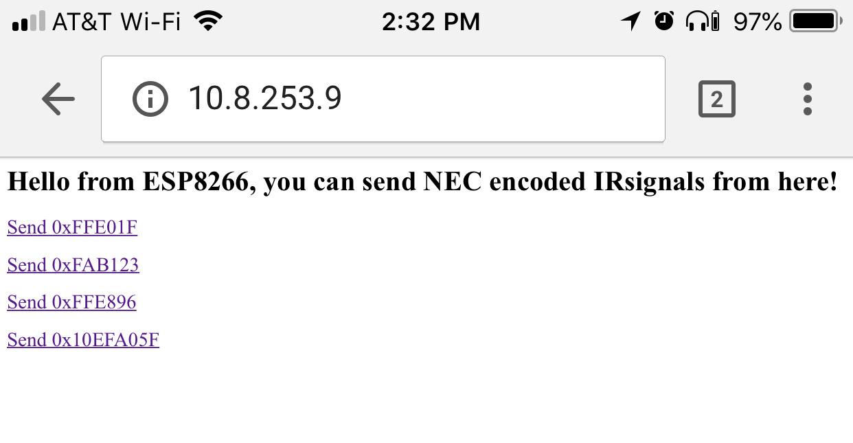 Wifi Ir Blaster Hookup Guide Verysimpleirremotecontrolcircuit Server Web Page