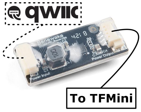 Benewake TFMini Boost Converter