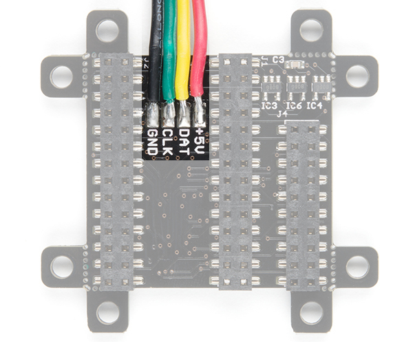 APA102 JST SM Connected to the SmartLED Shield