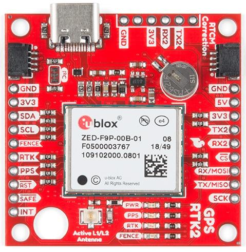 SparkFun GPS-RTK2 board