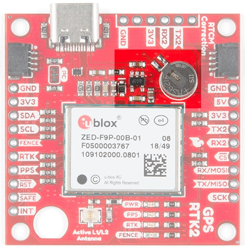 The backup battery on the SparkFun RTK2