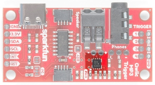 Class D Amplifier on SparkFun Qwiic MP3 Trigger