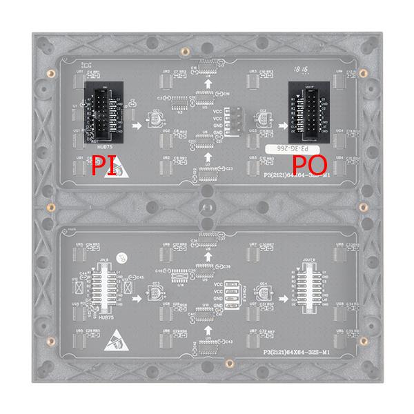 Highlighted Ports on 64x64 RGB LED Matrix Panel