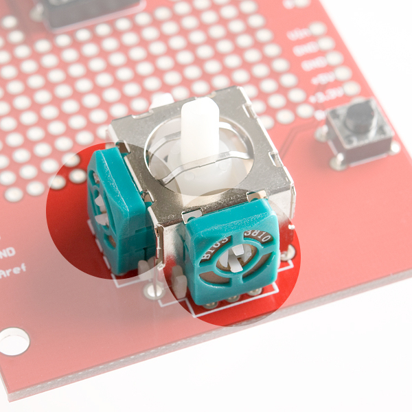 Joystick Potentiometers Highlighted