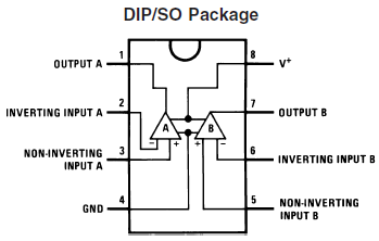 LM358 Op Amp Annotated