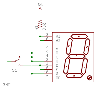 Schematic of 7 Segment Display Circuit