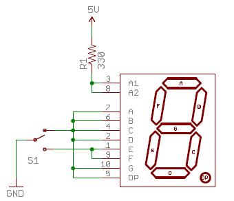 Schematic of 7 Segment Display Circuit