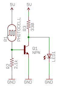 Schematic of Photocell Circuit  2