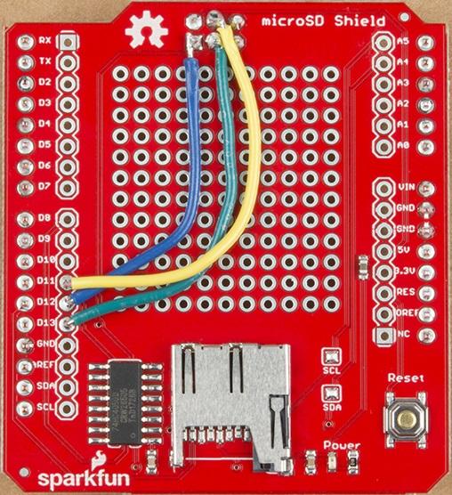 microSD communication soldering