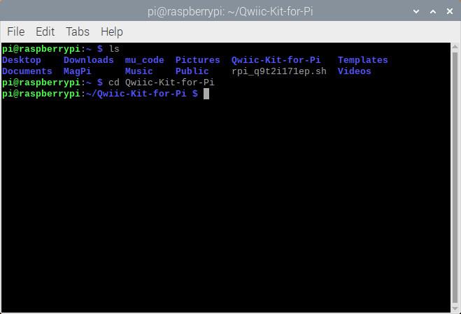 Open example via Command Line