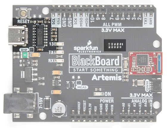 Serial port and JTAG port on BlackBoard Artemis