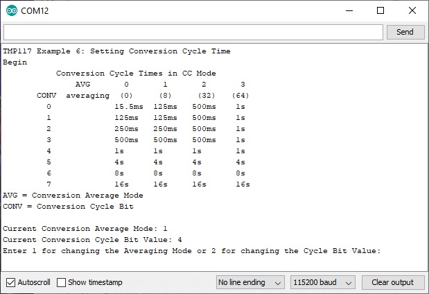Set Conversion Cycle Time