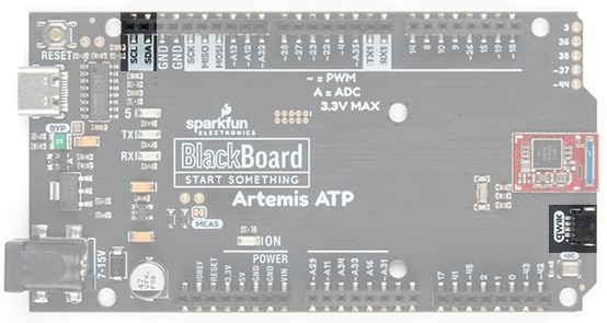 Qwiic connector on BlackBoard Artemis ATP