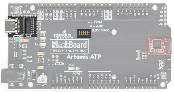 BlackBoard Artemis ATP USB C and JTAG ports