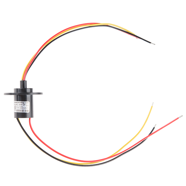 slip ring - 3 wire  10a  - rob-13063