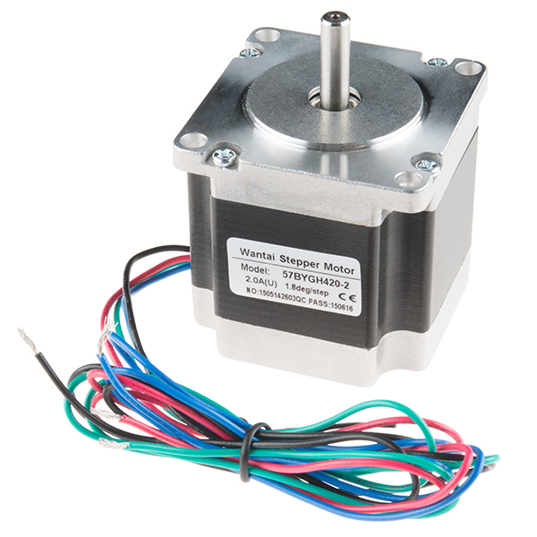 Stepper motor 125 200 steps rev 600mm wire for What is a stepper motor